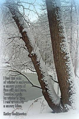 Winters Embrace Poster by Kay Novy
