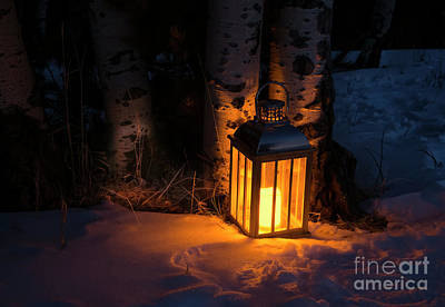 Poster featuring the photograph Winter's Eve by The Forests Edge Photography - Diane Sandoval