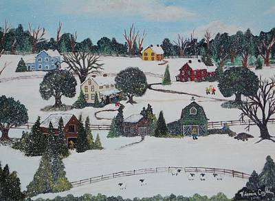 Poster featuring the painting Winters Last Snow by Virginia Coyle