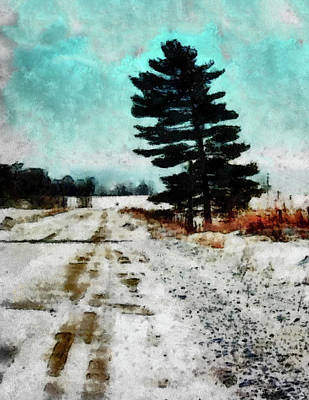 Wintry Altona Road Poster by Leslie Montgomery