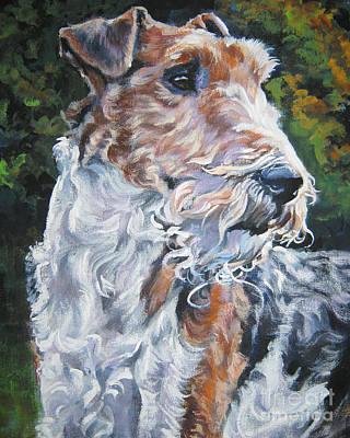 Wire Fox Terrier Poster by Lee Ann Shepard