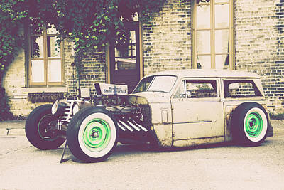 Poster featuring the photograph Wisconsin State Journal Ratrod by Joel Witmeyer