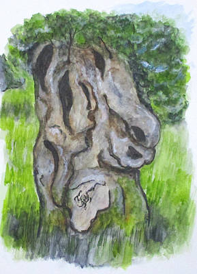 Wisdom Olive Tree Poster