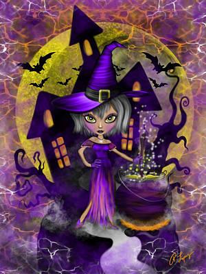 Wisdom Witch Fantasy Art Poster