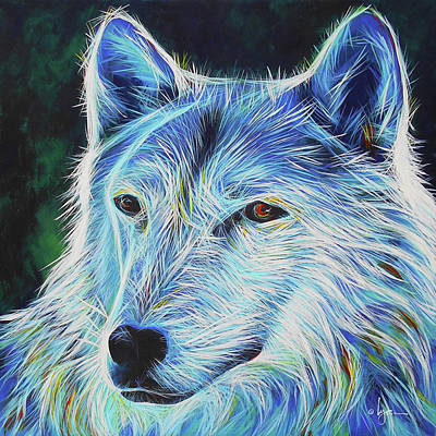 Wise White Wolf Poster by Angela Treat Lyon
