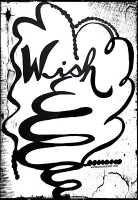 Poster featuring the drawing Wish by Rachel Maynard
