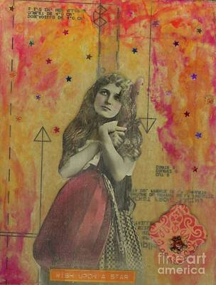 Poster featuring the mixed media Wish Upon A Star by Desiree Paquette