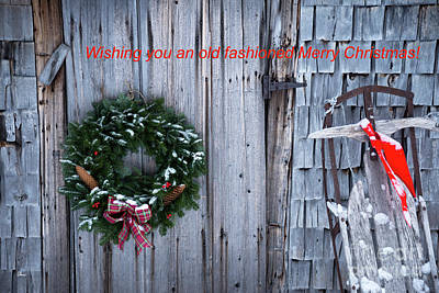 Wishing You An Old Fashioned Merry Christmas Poster by Alana Ranney