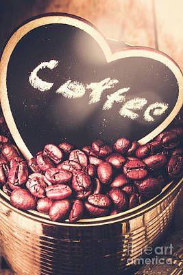 With Light And Coffee Love Poster