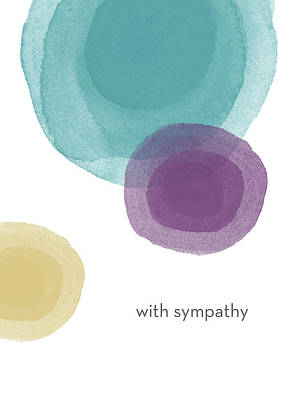 With Sympathy Circles- Art By Linda Woods Poster