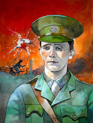 Poster featuring the painting W.j. Symons Vc by Ray Agius