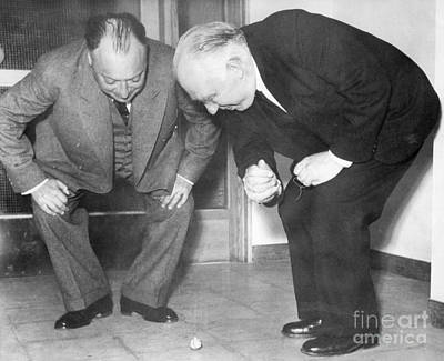 Wolfgang Pauli And Niels Bohr Poster by Margrethe Bohr Collection and AIP and Photo Researchers