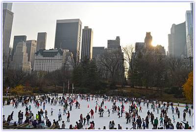 Wollman Ice Skating Rink At Central Park Poster