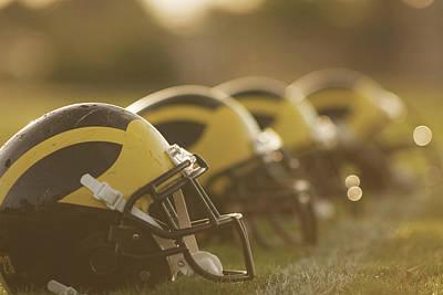 Wolverine Helmets Sparkling In Dawn Sunlight Poster