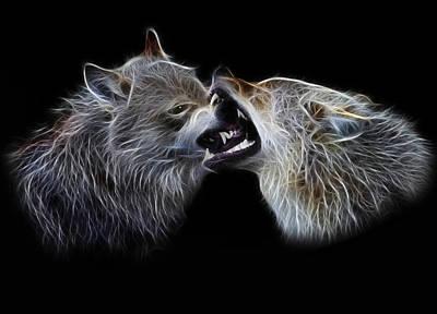 Wolves Portrait Poster by Julie L Hoddinott