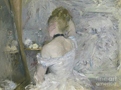 Woman At Her Toilette Poster by Berthe Morisot