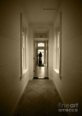 Woman At The Door Poster