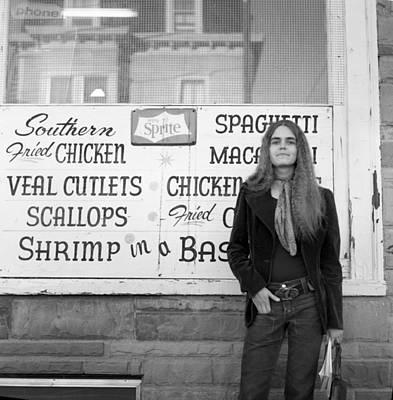 Woman Contemplates Scallops, 1972 Poster