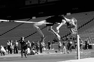 Woman High Jumper  Poster by Jim Corwin