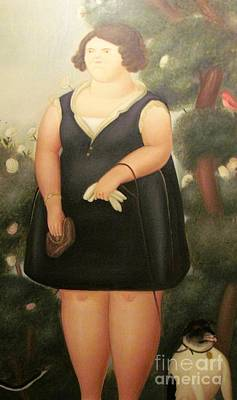 woman in Black Botero Poster