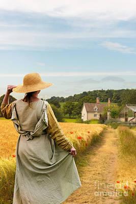 Woman In Field Poster by Amanda Elwell