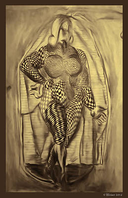 Woman In Full Poster by Dennis Weiser