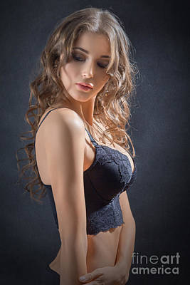 Woman In Lingerie Poster