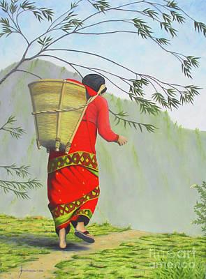 Woman Of Nepal Poster by Jerome Stumphauzer