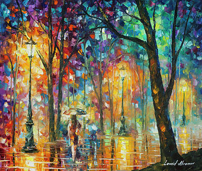 Woman Of The Night Poster by Leonid Afremov