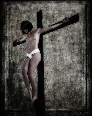 Woman On Crucifix Poster