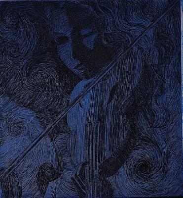 Woman Playing Violin Poster by Rana