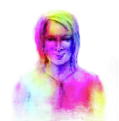 Woman Rainbow Colors Poster