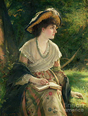 Woman Reading Poster by Robert James Gordon