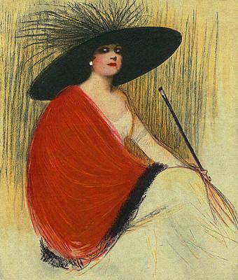 Woman Wearing Hat Poster