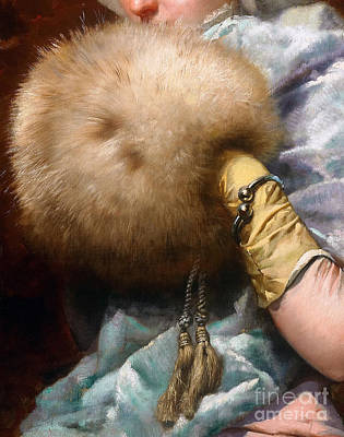 Woman With A Fur Muff, Spanish Old Master Painting Poster by Tina Lavoie