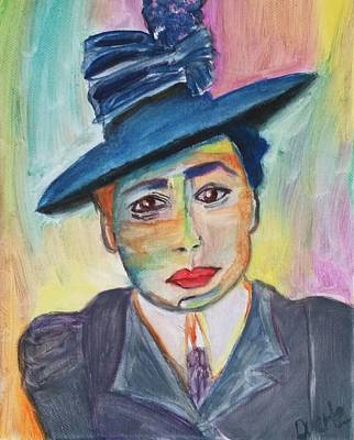 Woman With A Hat Poster by Carol Duarte