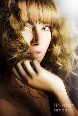 Woman With Beautiful Wavy Hair Poster by Jorgo Photography - Wall Art Gallery