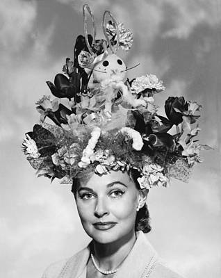 Woman With Easter Bonnet Poster