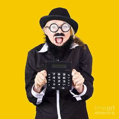 Woman With Electronic Calculator Poster by Jorgo Photography - Wall Art Gallery