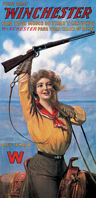Woman With Model 92 Poster