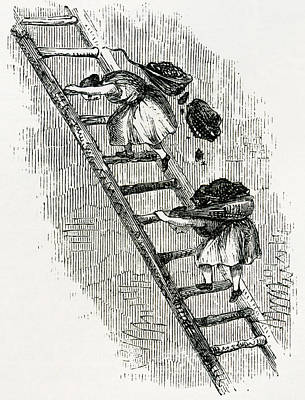 Women Carrying Coal To Surface In East Poster