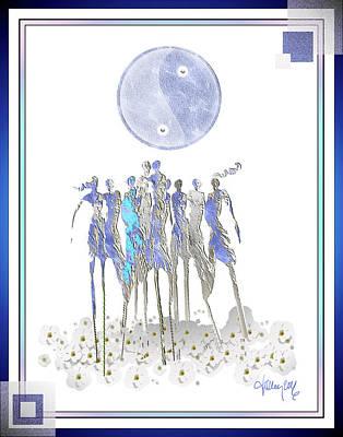 Women Chanting - Full Moon Flower Song Poster