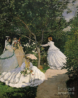 Women In The Garden Poster