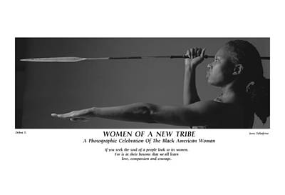 Women Of A New Tribe - Debra With Spear Poster by Jerry Taliaferro