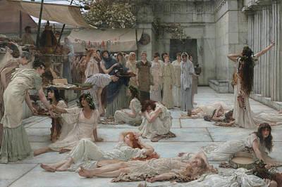 Women Of Amphissa Poster by Lawrence Alma-Tadema