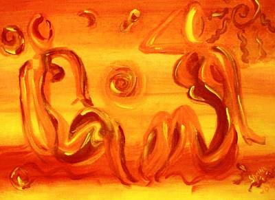 Women Sunning Poster by Shelley Bain