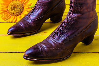 Womens Antique Boots Poster