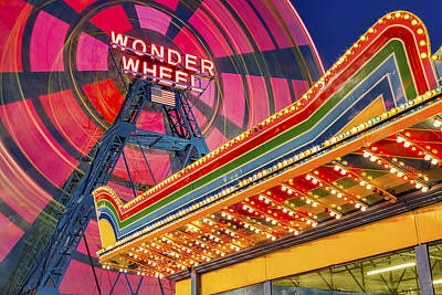 Wonder Wheel At Coney Island Poster