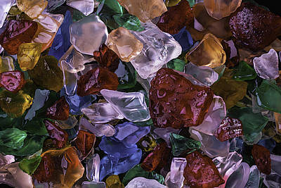Wonderful Colored Sea Glass Poster
