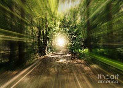 Wonderful Light At The End Of The Tunnel Poster by Carol Groenen